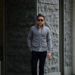 ZANONE (ザノーネ) CHIOTO KYOTO (キョウト キョート) 810740 z0229 (ミドルゲージ ニット ジャケット) GRAY (グレー・Z4872) MADE IN ITALY(イタリア製) 2018 秋冬新作のイメージ