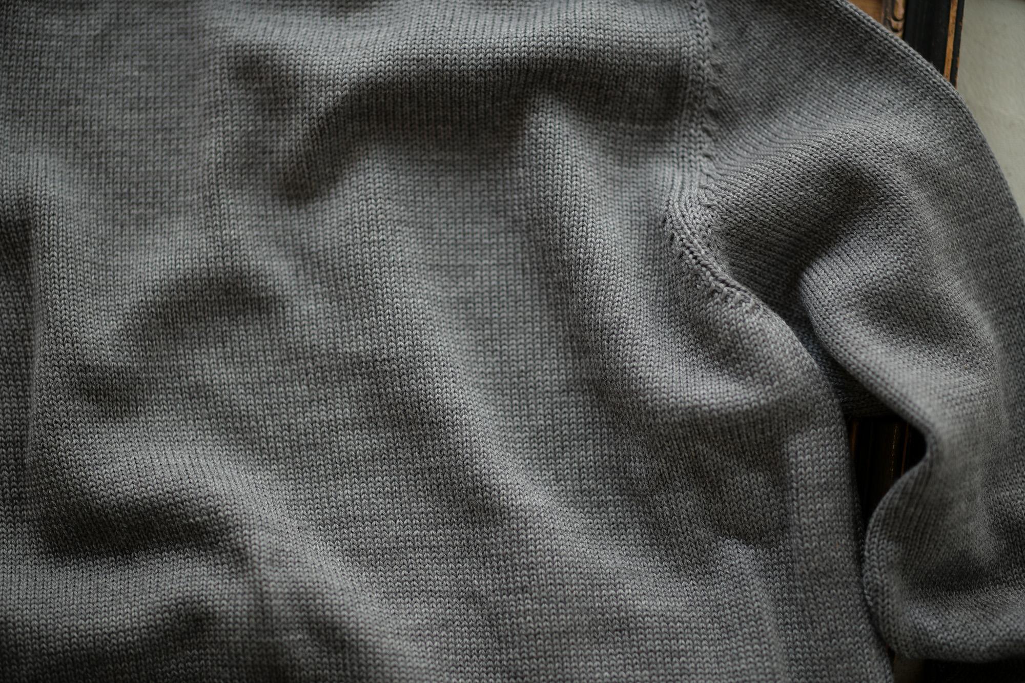 ZANONE (ザノーネ) CHIOTO KYOTO (キョウト キョート) 810740 z0229 (ミドルゲージ ニット ジャケット) GRAY (グレー・Z4872) MADE IN ITALY(イタリア製) 2018 秋冬新作 zanone 愛知 名古屋 Alto e Diritto アルト エ デリット alto e diritto アルトエデリット ニット