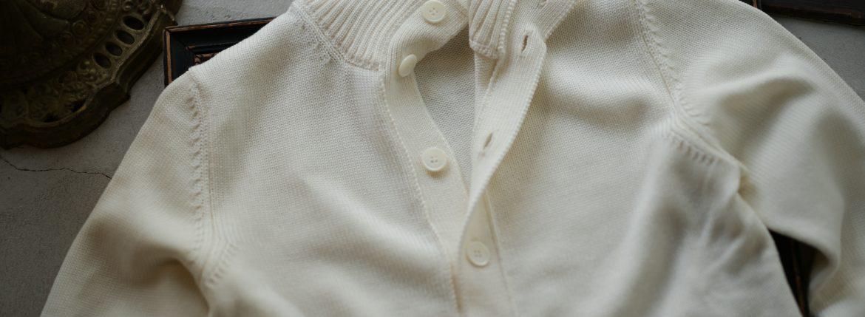 ZANONE (ザノーネ) CHIOTO KYOTO (キョウト キョート) 810740 z0229 (ミドルゲージ ニット ジャケット) OFF WHITE (オフホワイト・Z3623) MADE IN ITALY(イタリア製) 2018 秋冬新作のイメージ
