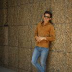 Alfredo Rifugio (アルフレード リフージオ) SS326 CAMOSCIO Summer Suede Leather Shirts サマースウェード レザーシャツ CAMEL (キャメル) made in italy (イタリア製) 2019 春夏 【ご予約受付中】のイメージ