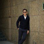 Cruciani (クルチアーニ) Cashmere Zip Up Cardigan (カシミヤ ジップアップ カーディガン) Cashmere 100% ハイゲージ カシミヤニット カーディガン NAVY (ネイビー・201473) made in italy (イタリア製) 2018 秋冬新作のイメージ