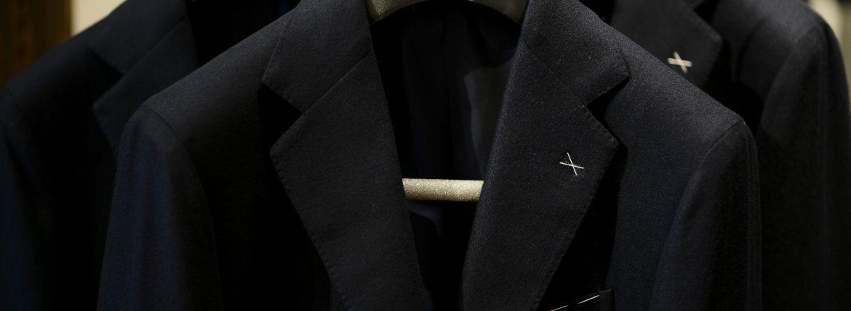 De Petrillo (デ ペトリロ) NAPOLI Posillipo (ナポリ ポジリポ) カシミア モールスキン 段返り3B ジャケット NAVY (ネイビー・220) Made in italy (イタリア製) 2018 秋冬新作のイメージ