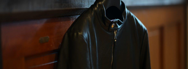 EMMETI (エンメティ) ANDREA (アンドレア) Lambskin Nappa Leather ラムナッパレザー 中綿入り シングル ライダース ジャケット NERO (ブラック・190/1) Made in italy (イタリア製) 2018 秋冬新作 【第1便入荷しました】のイメージ