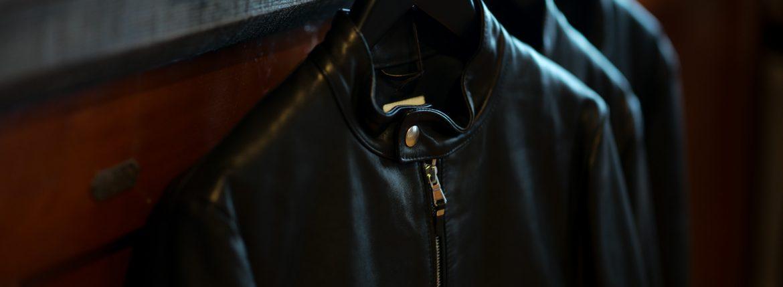 EMMETI (エンメティ) ANDREA (アンドレア) Lambskin Nappa Leather ラムナッパレザー 中綿入り シングル ライダース ジャケット NERO (ブラック・190/1) Made in italy (イタリア製) 2018 秋冬新作 【第2便入荷しました】のイメージ