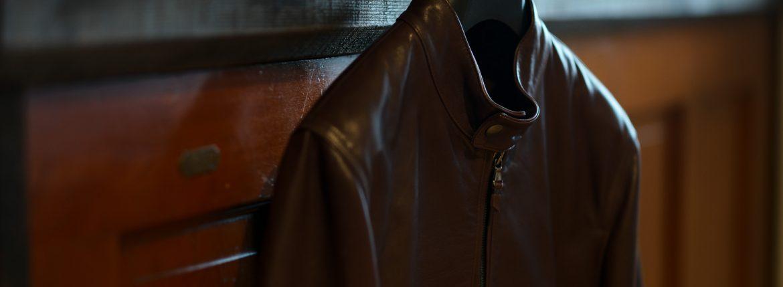 EMMETI(エンメティ) JURI(ユリ) Lambskin nappa シングルライダース レザージャケット WALNUT (ウォルナット) made in italy (イタリア製) 2018 秋冬新作 【第1便入荷しました】【フリー分販売開始】のイメージ