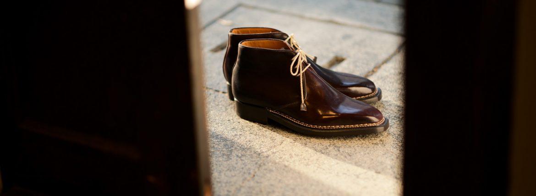 ENZO BONAFE(エンツォボナフェ) ART.3722 Chukka boots チャッカブーツ Horween Shell Cordovan Leather ホーウィン社 シェルコードバンレザー ノルベジェーゼ製法 チャッカブーツ コードバンブーツ No.8(バーガンディー)  made in italy (イタリア製) 2019 春夏のイメージ