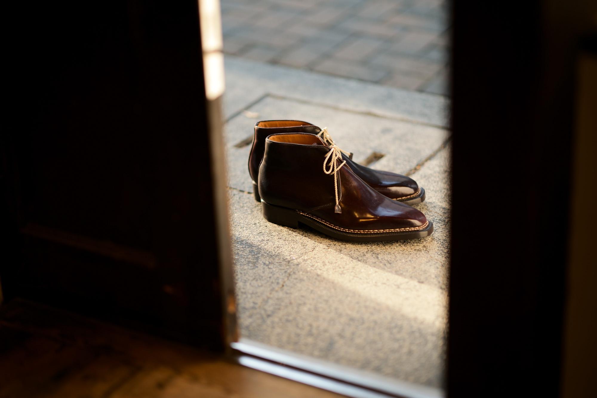 ENZO BONAFE(エンツォボナフェ) ART.3722 Chukka boots チャッカブーツ Horween Shell Cordovan Leather ホーウィン社 シェルコードバンレザー ノルベジェーゼ製法 チャッカブーツ コードバンブーツ No.8(バーガンディー)  made in italy (イタリア製) 2019 春夏 愛知 名古屋 Alto e Diritto アルト エ デリット エンツォボナフェ コードバン チャッカ 5.5,6,6.5,7,7.5,8,8.5,9,9.5