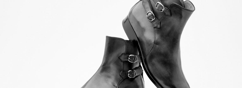 ENZO BONAFE(エンツォボナフェ) ART.3995 Double strap boot Du Puy Vitello デュプイ社ボックスカーフ ダブルストラップブーツ NERO (ブラック) made in italy (イタリア製) 2019 春夏 enzobonafe 愛知 名古屋 ZODIAC ゾディアック alto e diritto アルトエデリット 5,5.5,6,6.5,7,7.5,8,8.5,9,9.5