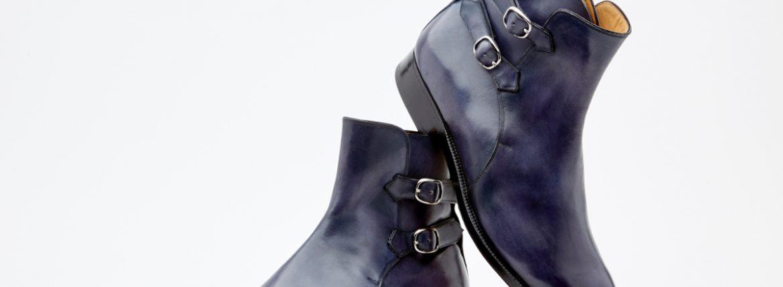 ENZO BONAFE(エンツォボナフェ) ART.3995 Double strap boot Du Puy Vitello デュプイ社ボックスカーフ ダブルストラップブーツ NERO (ブラック) made in italy (イタリア製) 2019 春夏のイメージ