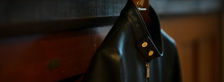 Georges de Patricia (ジョルジュ ド パトリシア) Carrera Pave Diamond (カレラ パヴェ ダイヤモンド) 925 STERLING SILVER (925 スターリングシルバー) Super Soft Shrunken Deer skin (スーパー ソフト シュランケン ディアスキン) シングル ライダース ジャケット NOIR (ブラック) 2018 秋冬のイメージ