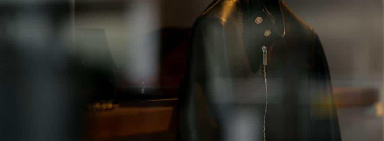 Georges de Patricia (ジョルジュ ド パトリシア) Carrera Pave Diamond (カレラ パヴェ ダイヤモンド) 925 STERLING SILVER (925 スターリングシルバー) Super Soft Shrunken Deer skin (スーパー ソフト シュランケン ディアスキン) シングル ライダース ジャケット NOIR (ブラック) 2018 秋冬 【ご予約受付中】のイメージ