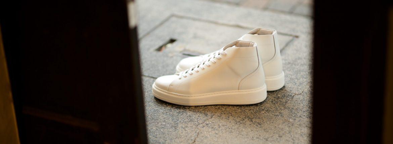 PATRICK(パトリック) CRUISE LINE クルーズライン GENOVA-HI (ジェノバ ハイ) Annonay Vocalou Calf Leather (アノネイ社 ボカルーカーフ レザー) ハイカット レザー スニーカー WHITE (ホワイト・WHT) MADE IN JAPAN(日本製) 【1st コレクション // 復刻モデル】【スペシャル限定モデル】【第1便第2便入荷しました】【フリー分販売開始】のイメージ