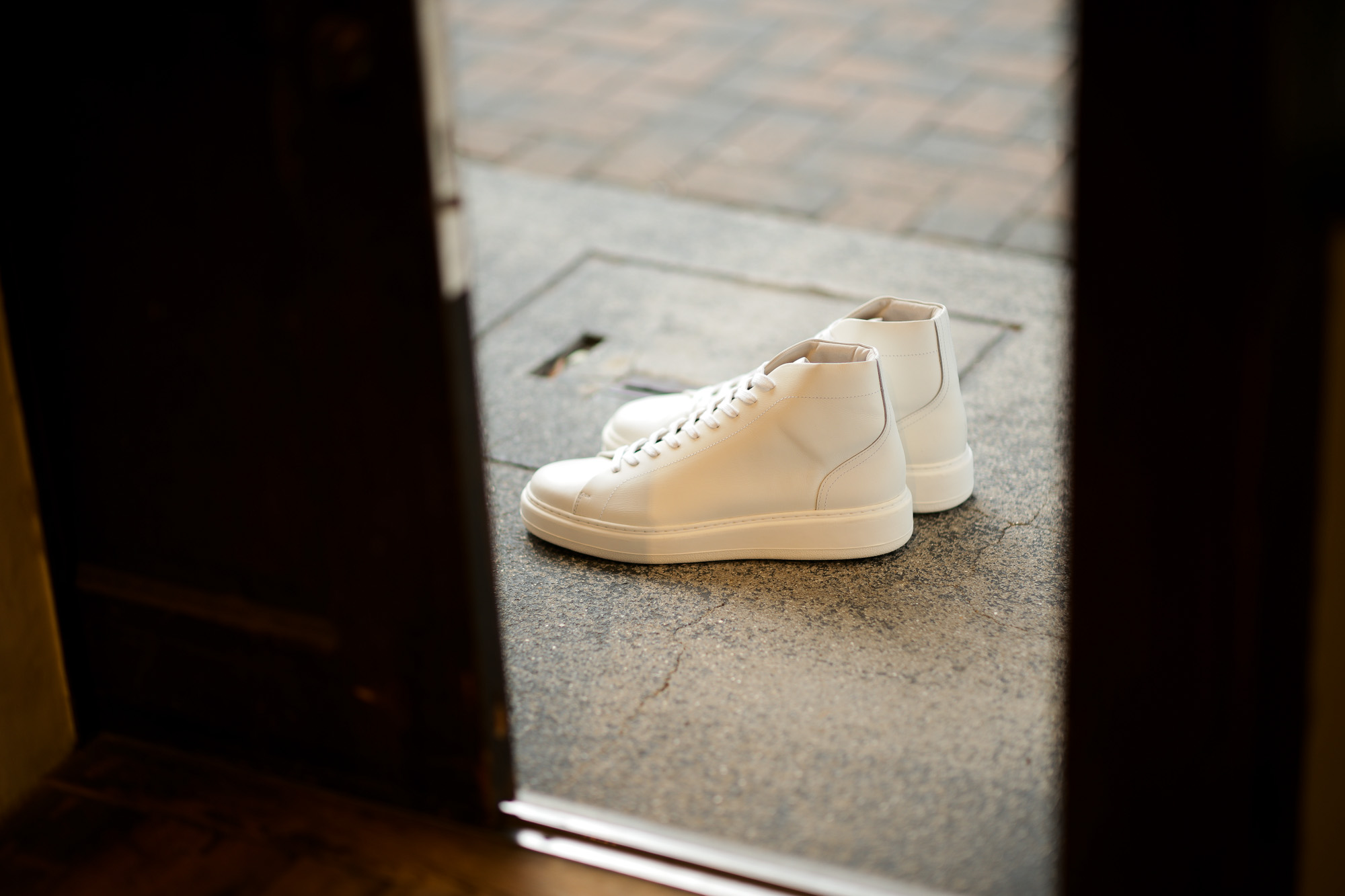 PATRICK(パトリック) CRUISE LINE クルーズライン GENOVA-HI (ジェノバ ハイ) Annonay Vocalou Calf Leather (アノネイ社 ボカルーカーフ レザー) ハイカット レザー スニーカー WHITE (ホワイト・WHT) MADE IN JAPAN(日本製) 【1st コレクション // 復刻モデル】【スペシャル限定モデル】【第1便第2便入荷しました】【フリー分販売開始します】 patrick パトリック cruiseline クルーズライン 愛知 名古屋 ZODIAC ゾディアック 干場義雅 坪内浩