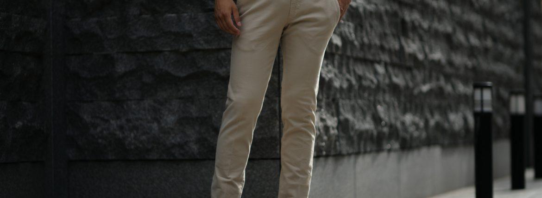 PT01 (ピーティーゼロウーノ) BUSINESS (ビジネス) SUPER SLIM FIT (スーパースリムフィット) Soft Touch Stretch Cotton Garment Dye ストレッチ コットン スラックス パンツ BEIGE (ベージュ・0040) 2018 秋冬新作のイメージ