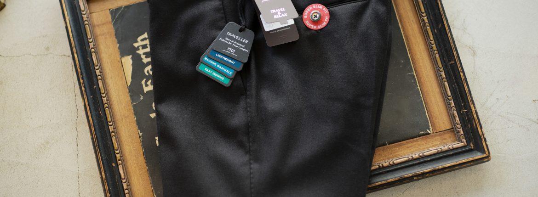 PT01 (ピーティーゼロウーノ) TRAVEL & RELAX SUPER SLIM FIT Stretch Techno Washable Flannel ストレッチ テクノ ウォッシャブル フランネル ウール スラックス BLACK (ブラック・0990) 2018 秋冬新作のイメージ