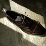 WH (ダブルエイチ) WHS-0110 Straight chip Shoes (干場氏 スペシャル モデル) Trench Last (トレンチラスト) ANNONAY Vocalou Calf Leather ストレートチップ シューズ DARK BROWN (ダークブラウン) MADE IN JAPAN(日本製) 2019 春夏 【ご予約受付開始】のイメージ