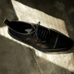 WH (ダブルエイチ) WHS-0110 Straight chip Shoes (干場氏 スペシャル モデル) Trench Last (トレンチラスト) ANNONAY Vocalou Calf Leather ストレートチップ シューズ BLACK (ブラック) MADE IN JAPAN(日本製) 2019 春夏 【第1便ご予約受付中】のイメージ