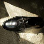 WH (ダブルエイチ) WHS-0110 Straight chip Shoes (干場氏 スペシャル モデル) Trench Last (トレンチラスト) ANNONAY Vocalou Calf Leather ストレートチップ シューズ BLACK (ブラック) MADE IN JAPAN(日本製) 2019 春夏 【第2便ご予約開始】のイメージ