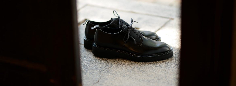 WH (ダブルエイチ) WH-0001(WHS-0001) Plane Toe Shoes (干場氏 スペシャル モデル) Cruise Last (クルーズラスト) ANNONAY Vocalou Calf Leather プレーントゥシューズ BLACK (ブラック) MADE IN JAPAN(日本製) 2018 新作   【干場氏、坪内氏の直筆サイン入り】【Alto e Diritto限定 スペシャルアイテム】【9月上旬入荷分ご予約受付中】【10月上旬入荷分ご予約受付中】【11月上旬入荷分ご予約受付中】のイメージ