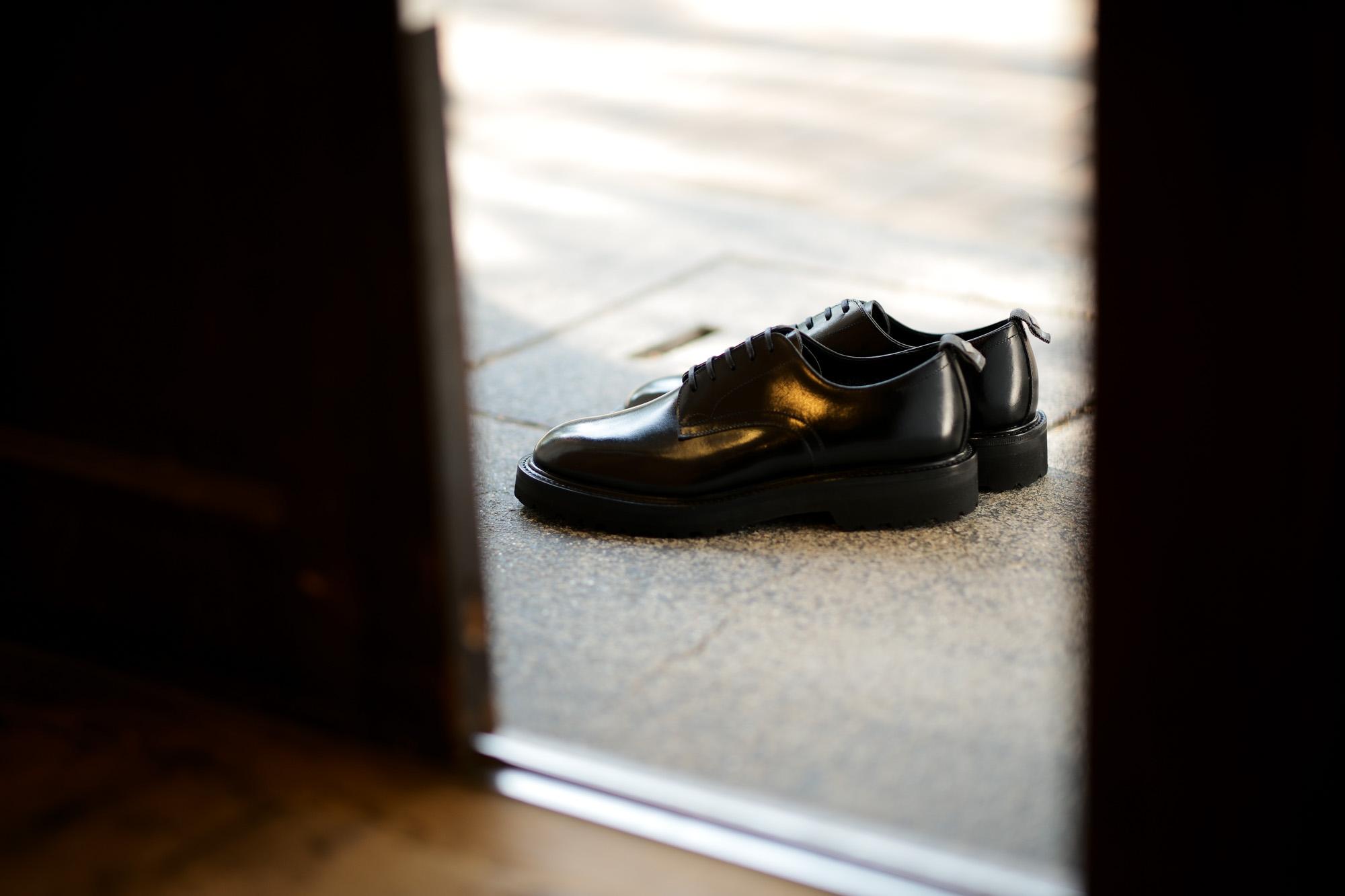 WH(ダブルエイチ) WH-0006(WHS-0006) Plane Toe Shoes  (干場氏 スペシャル モデル) Birdie Last(バーディラスト) ANNONAY Vocalou Calf Leather プレーントゥ シューズ BLACK(ブラック) MADE IN JAPAN(日本製) 2018 春夏新作 【干場氏、坪内氏の直筆サイン入り】【Alto e Diritto限定 スペシャルアイテム】【9月上旬入荷分ご予約受付中】【10月上旬入荷分ご予約受付中】【11月上旬入荷分ご予約受付中】  wh 干場さん 干場スペシャル FORZASTYLE フォルザスタイル 愛知 名古屋 Alto e Diritto アルト エ デリット