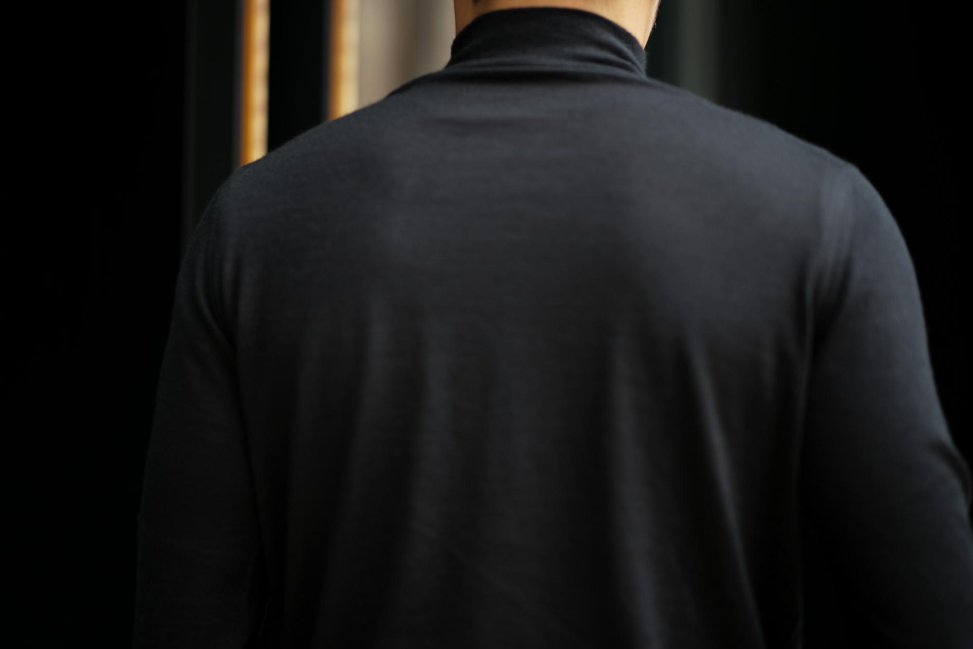 Cruciani (クルチアーニ) Cashmere Mock Neck Sweater (カシミヤ モックネック セーター) Cashmere 100% ハイゲージ カシミヤニット モックネック セーター BLACK (ブラック・NERO) made in italy (イタリア製) 2018 秋冬新作 愛知 名古屋 alto e diritto アルトエデリット カシミヤ