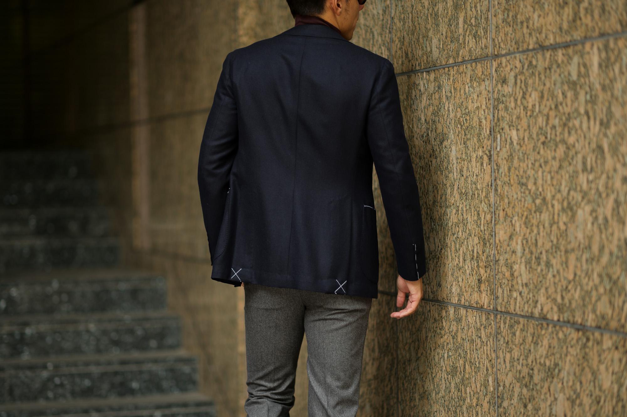 De Petrillo (デ ペトリロ) NAPOLI Posillipo (ナポリ ポジリポ) カシミア モールスキン 段返り3B ジャケット NAVY (ネイビー・220) Made in italy (イタリア製) 2018 秋冬新作 depetrillo 愛知 名古屋 Alto e Diritto アルト エ デリット alto e diritto アルトエデリット 42,44,46,48,50,52,54