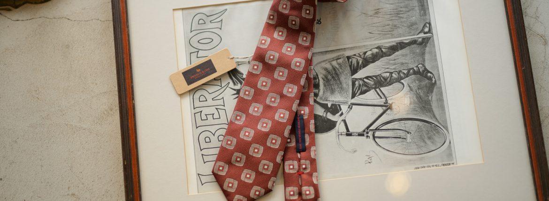 FRANCO BASSI (フランコバッシ) JACQUARD TIE (ジャガードタイ) シルク ジャガード 小紋柄 ネクタイ WHISKY (ウイスキー・3) Made in italy (イタリア製) 2018 秋冬新作のイメージ
