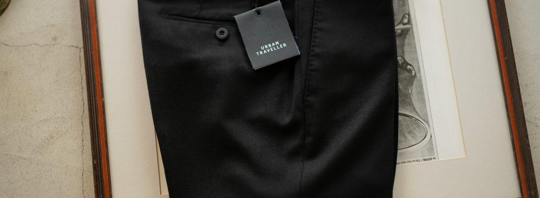 INCOTEX (インコテックス) N35 SLIM FIT (1NG035R) TECHNO FLANNEL URBAN TRAVELLER (テクノ フランネル アーバン トラベラー) ストレッチ ウォッシャブル フランネル ウール スラックス BLACK (ブラック・990) 2018 秋冬新作のイメージ
