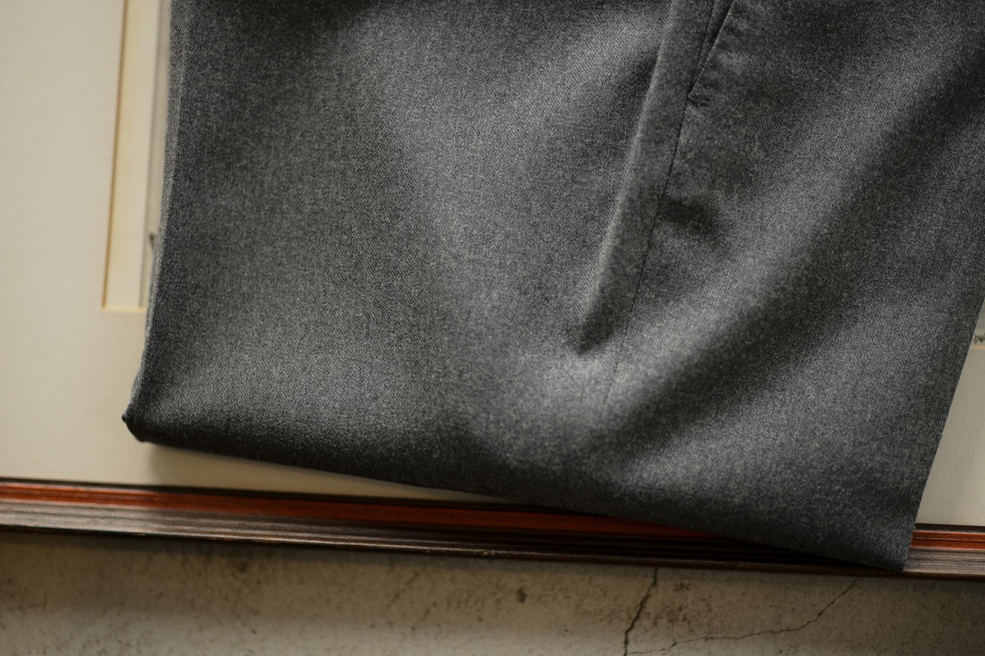 INCOTEX (インコテックス) N35 SLIM FIT (1NG035R) TECHNO FLANNEL URBAN TRAVELLER (テクノ フランネル アーバン トラベラー) ストレッチ ウォッシャブル フランネル ウール スラックス MEDIUM GRAY (ミディアムグレー・910) 2018 秋冬新作 incotex alto e diritto altoediritto アルトエデリット グレスラ グレースラックス 愛知 名古屋 セレクトショップ 洋服屋