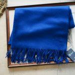 Johnstons (ジョンストンズ) WA56 STOLE Cashmere 100% カシミア 大判 ストール Bright Blue (ブライトブルー・SD0404) Made in Scotland (スコットランド製) 2018 秋冬新作のイメージ