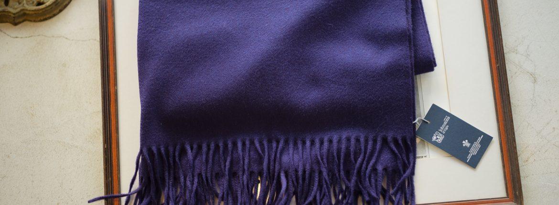 Johnstons (ジョンストンズ) WA56 STOLE Cashmere 100% カシミア 大判 ストール ROYAL PURPLE (ロイヤルパープル・SD7119) Made in Scotland (スコットランド製) 2018 秋冬新作のイメージ