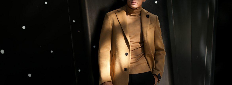 LARDINI (ラルディーニ) Spolverino Chester coat (スポルベリーノ チェスターコート) フラノウール生地 シングル チェスターコート CAMEL (キャメル・1) Made in italy (イタリア製) 2018 秋冬新作のイメージ