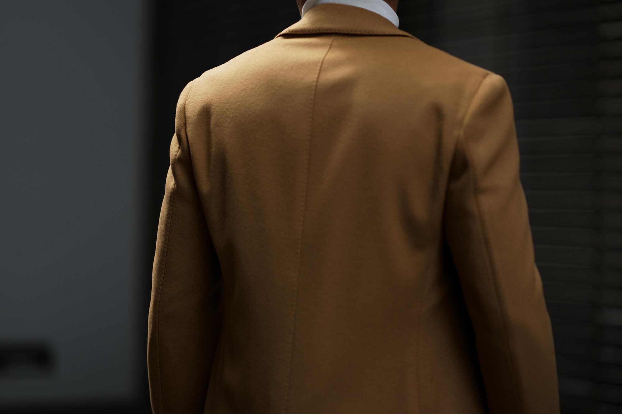 LARDINI (ラルディーニ) Spolverino Chester coat (スポルベリーノ チェスターコート) フラノウール生地 シングル チェスターコート CAMEL (キャメル・1) Made in italy (イタリア製) 2018 秋冬新作 alto e diritto altoediritto アルトエデリット