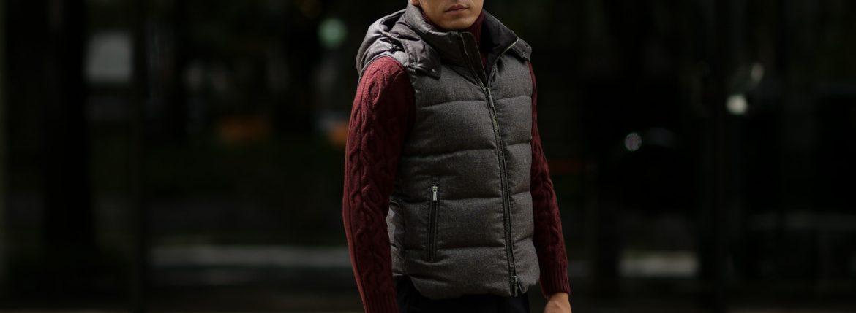 MOORER (ムーレー) FAYER-NO (フェイヤー) ウール ダウン ベスト NUT (ブラウン) Made in italy (イタリア製) 2018 秋冬新作のイメージ