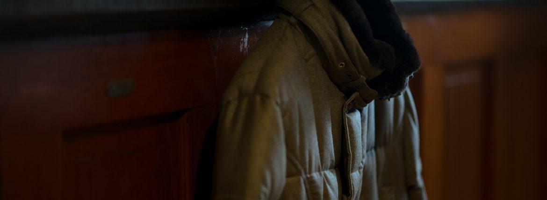 MOORER (ムーレー) MORRIS-L (モーリス) LoroPiana (ロロピアーナ) ウールカシミア ダブルブレスト ダウン コート BEIGE (ベージュ) Made in italy (イタリア製) 2018 秋冬新作のイメージ