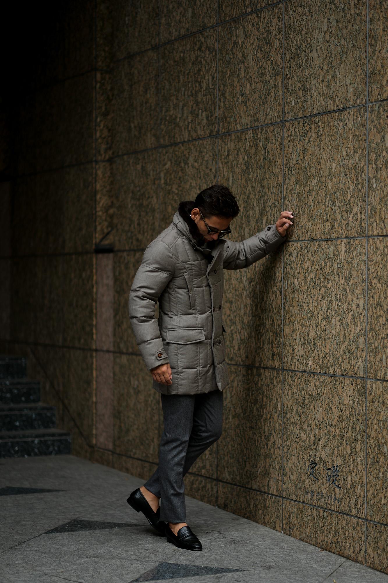 MOORER (ムーレー) MORRIS-L (モーリス) LoroPiana (ロロピアーナ) ウールカシミア ダブルブレスト ダウン コート BEIGE (ベージュ) Made in italy (イタリア製) 2018 秋冬新作 愛知 名古屋 alto e dirtto アルトエデリット altoediritto  42,44,46,48,50,52,54