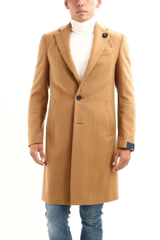 LARDINI (ラルディーニ) Spolverino Chester coat (スポルベリーノ チェスターコート) フラノウール生地 シングル チェスターコート CAMEL (キャメル・1) Made in italy (イタリア製) 2018 秋冬新作