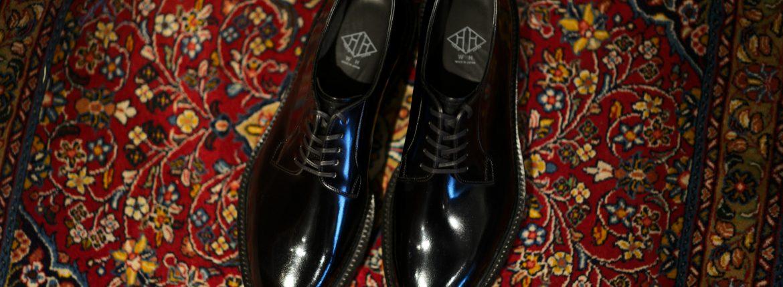 WH (ダブルエイチ) WHZ-0010 Cordovan Plane Toe Shoes (干場氏 スペシャル Zモデル) Birdie Last (バーディラスト) Shell Cordovan シェルコードバンレザー プレーントゥシューズ BLACK (ブラック) MADE IN JAPAN (日本製) 2018 秋冬 【Special限定モデル】【12月01日発売分】【明日9月14日よりご予約開始します】のイメージ