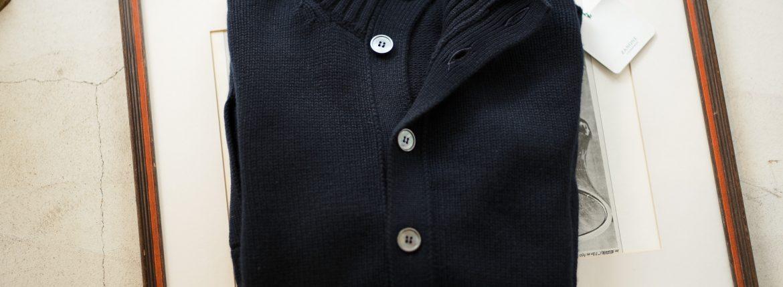 ZANONE (ザノーネ) CHIOTO Kyoto Cashmere (キョウト カシミア) ミドルゲージ カシミア ニット カーディガン ジャケット NAVY (ネイビー・Z1375) made in italy (イタリア製) 2018 秋冬新作のイメージ