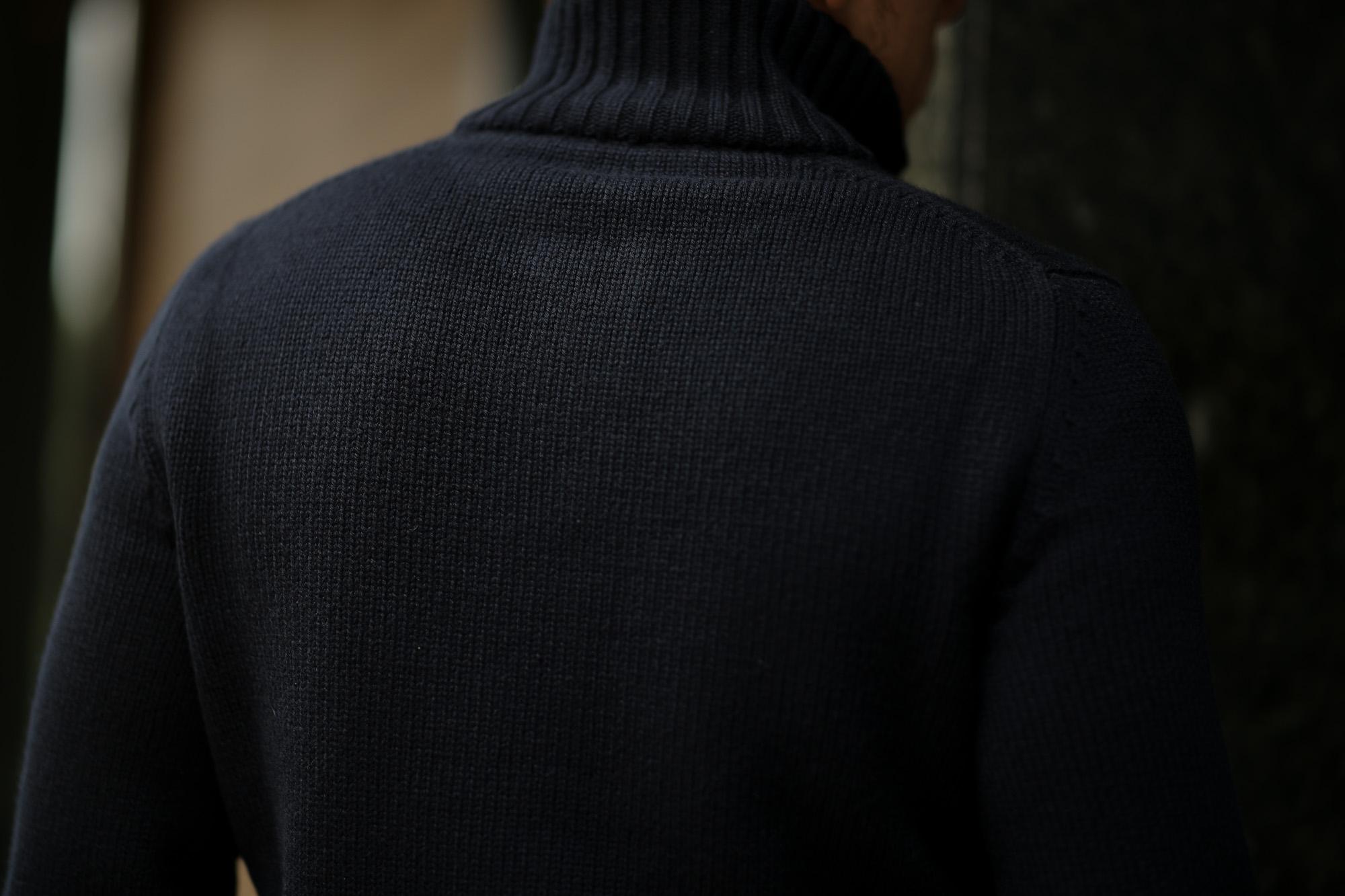 ZANONE (ザノーネ) CHIOTO Kyoto Cashmere (キョウト カシミア) ミドルゲージ カシミア ニット カーディガン ジャケット NAVY (ネイビー・Z1375) made in italy (イタリア製) 2018 秋冬新作 愛知 名古屋 alto e diritto アルトエデリットカシミヤ
