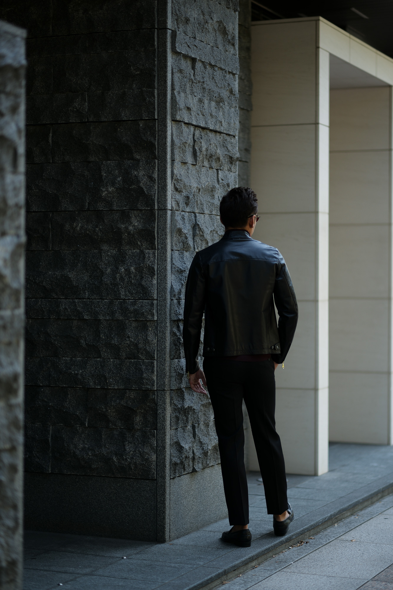 CINQUANTA(チンクアンタ) H502 STAND COLLAR RIDERS CAVALLO (スタンド カラー ジャケット) HORSE LEATHER ホースレザー シングル ライダース ジャケット BLACK (ブラック・999) Made in italy (イタリア製) 2018 秋冬新作 cinquanta チンクアンタ レザージャケット 愛知 名古屋 Alto e Diritto アルト エ デリット