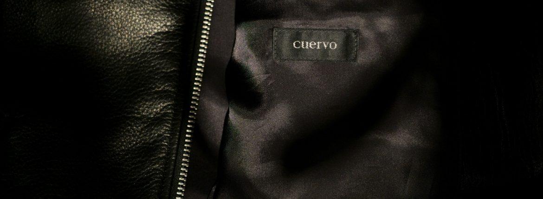 Cuervo (クエルボ) Satisfaction Leather Collection (サティスファクション レザー コレクション) TOM (トム) BUFFALO LEATHER (バッファロー レザー) シングル ライダース ジャケット BLACK (ブラック) MADE IN JAPAN (日本製) 2019 春夏のイメージ