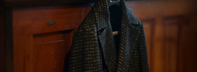 De Petrillo (デ ペトリロ) Bonifacio (ボニファシオ) ハウンドトゥース 6B ダブルチェスターコート BLACK (ブラック・455) Made in italy (イタリア製) 2018 秋冬新作のイメージ