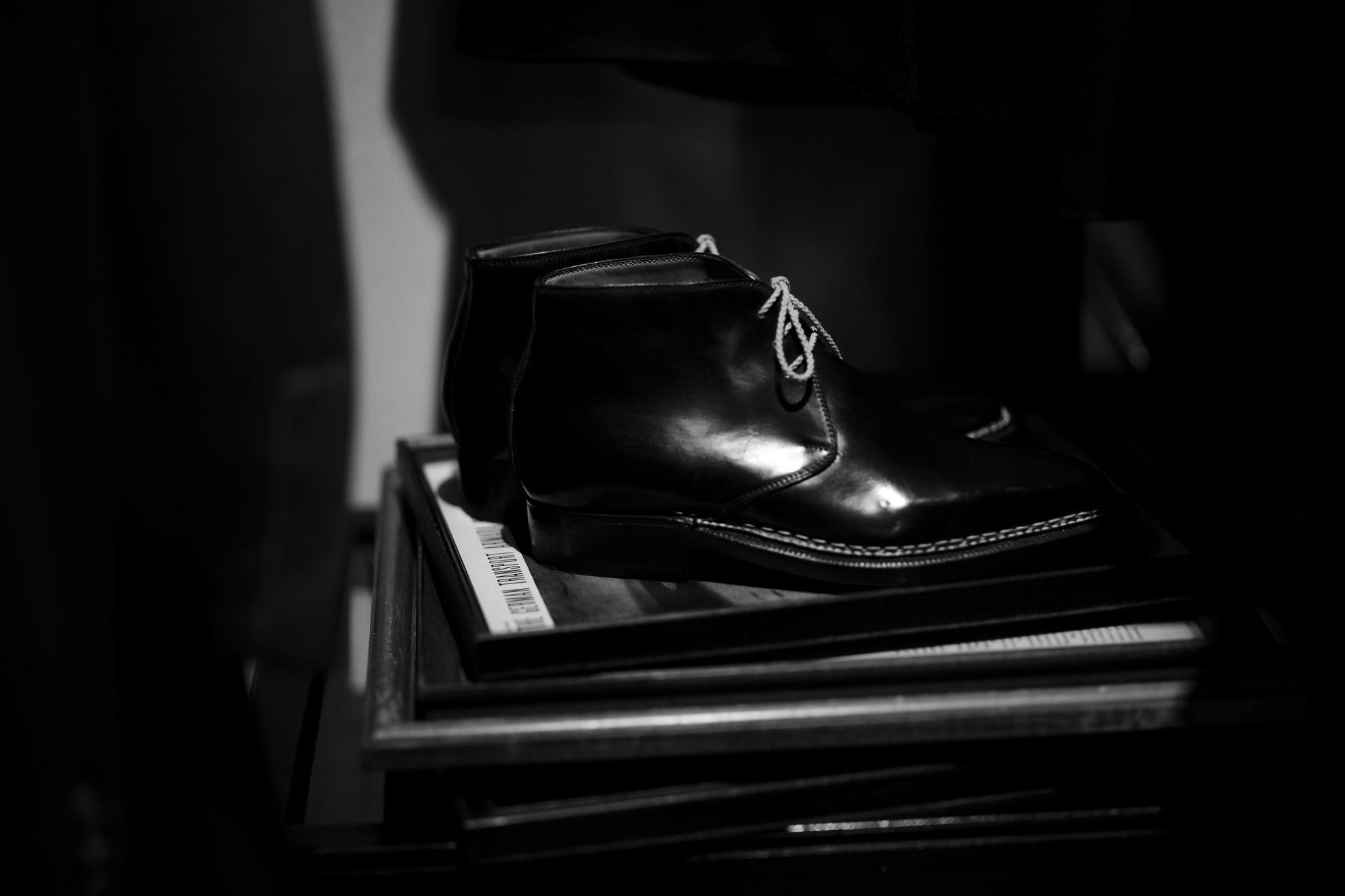 ENZO BONAFE(エンツォボナフェ) ART.3722 Chukka boots チャッカブーツ Horween Shell Cordovan Leather ホーウィン社 シェルコードバンレザー ノルベジェーゼ製法 チャッカブーツ コードバンブーツ NERO(ブラック)  made in italy (イタリア製) 2019 春夏 【ご予約開始】【特別限定販売】 愛知 名古屋 Alto e Diritto アルト エ デリット エンツォボナフェ コードバン チャッカ 5.5,6,6.5,7,7.5,8,8.5,9,9.5