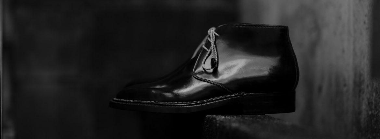 ENZO BONAFE(エンツォボナフェ) ART.3722 Chukka boots チャッカブーツ Horween Shell Cordovan Leather ホーウィン社 シェルコードバンレザー ノルベジェーゼ製法 チャッカブーツ コードバンブーツ NERO(ブラック)  made in italy (イタリア製) 2019 春夏 【ご予約開始】【特別限定販売】のイメージ