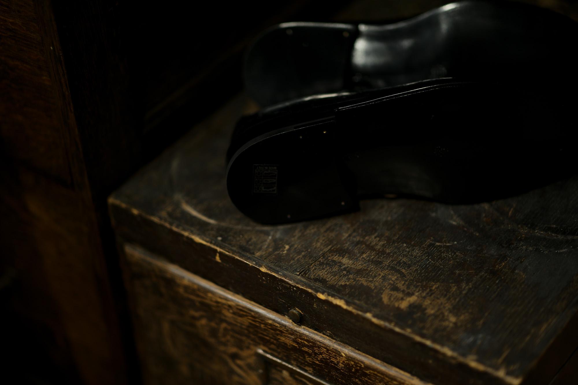 ENZO BONAFE(エンツォボナフェ) BERING(ベーリング) Crocodile クロコダイル ノルベジェーゼ製法 Uチップシューズ エキゾチックレザーシューズ COCCO NERO (ブラック)  made in italy(イタリア製) 2018秋冬新作 enzobonafe 愛知 名古屋 Alto e Diritto アルト エ デリット クロコ ハギ altoediritto アルトエデリット