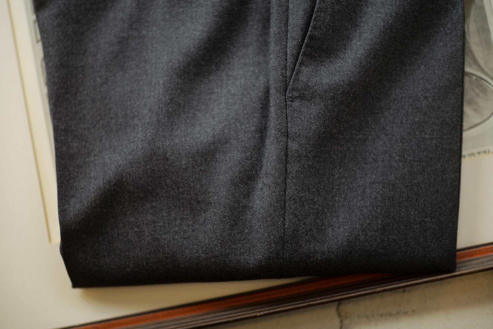 INCOTEX (インコテックス) N35 SLIM FIT (1NT035) S120'S HIGH COMFORT FLANNEL ストレッチ フランネル ウール スラックス CHARCOAL GRAY (チャコールグレー・920) 2018 秋冬新作 incotex 愛知 名古屋 altoediritto アルトエデリット グレスラ スラックス