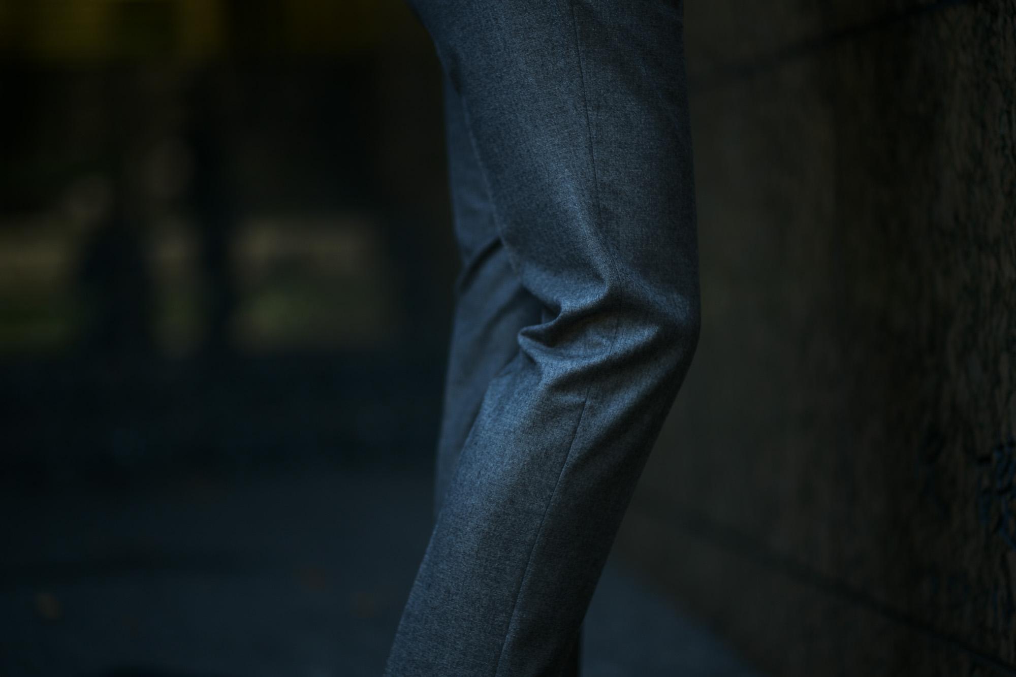 INCOTEX (インコテックス) N35 SLIM FIT (1NT035) S120'S HIGH COMFORT FLANNEL ストレッチ フランネル ウール スラックス GRAY (グレー・905) 2018 秋冬新作 incotex 愛知 名古屋 altoediritto アルトエデリット グレスラ スラックス
