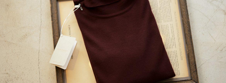 JOHN SMEDLEY (ジョンスメドレー) IMPERIAL KASHMIR (カシミアシリーズ) ARLINGTON (アーリントン) CASHMERE × Merino Wool (カシミア × メリノウール) 30ゲージ カシミアウール タートルネックセーター BORDEAUX (ボルドー) Made in England (イギリス製) 2018 秋冬新作のイメージ