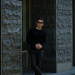 JOHN SMEDLEY (ジョンスメドレー) IMPERIAL KASHMIR (カシミアシリーズ) NORLAND (ノーランド) CASHMERE × SILK (カシミア × シルク) シルクカシミア クルーネックセーター BLACK (ブラック) Made in England (イギリス製) 2018 秋冬新作のイメージ